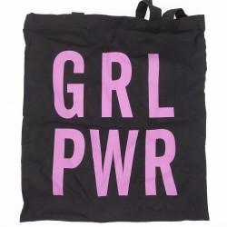 Bolsa de tela de algodón con el emblema mujeres al poder 001