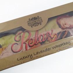 Bolsa de trigo en caja de regalo usado para terapias alternativas, con olor a lavanda puede usarse en frío y caliente 001