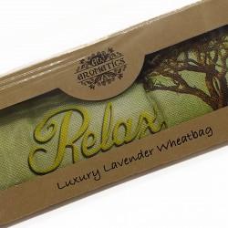 Bolsa de trigo en caja de regalo usado para terapias alternativas 001