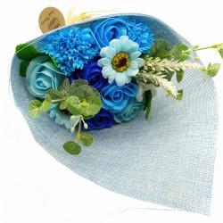 Ramo de Flores de Jabón Azul 002