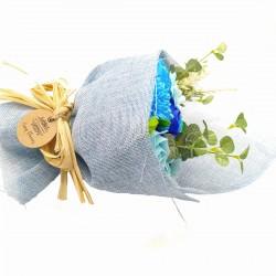 Ramo de Flores de Jabón Azul 003