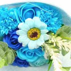 Ramo de Flores de Jabón Azul 004