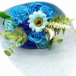 Ramo de Flores de Jabón Azul 005