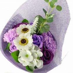 Ramo de Flores de Jabón Púrpura 001